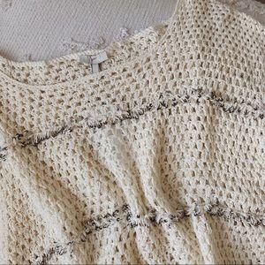 NWT Joie Jacinte Embellished Crochet Sweater
